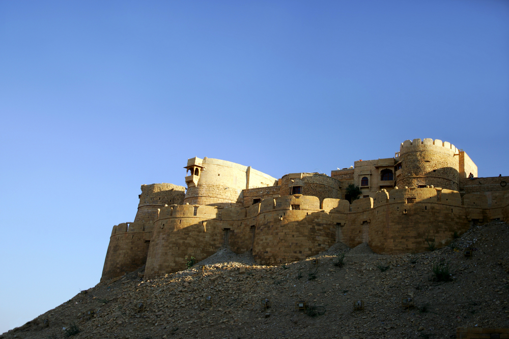 Ancient Fortress In Jaisalmer Rajasthan India