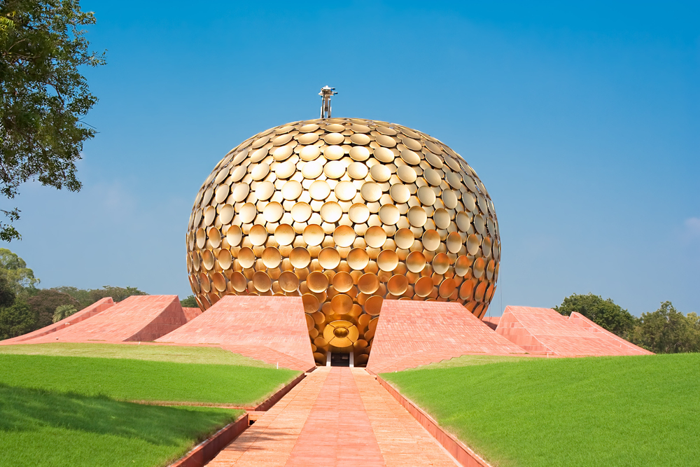 Auroville Meditation Hall Auroville Is A Human Unity Where People Could Live In Peace And
