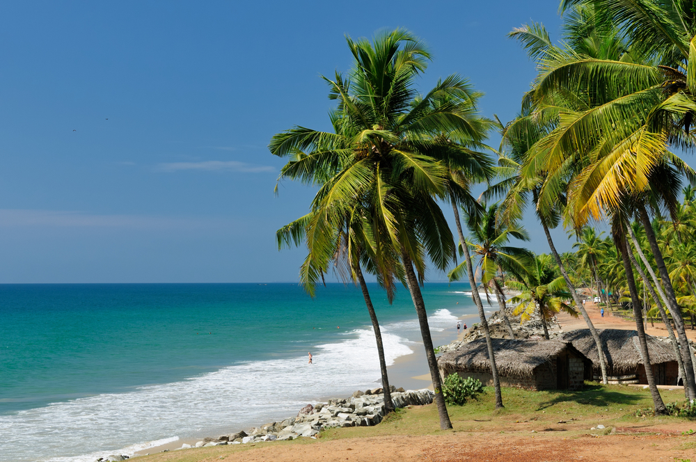 Beach In Varkala Kerala India
