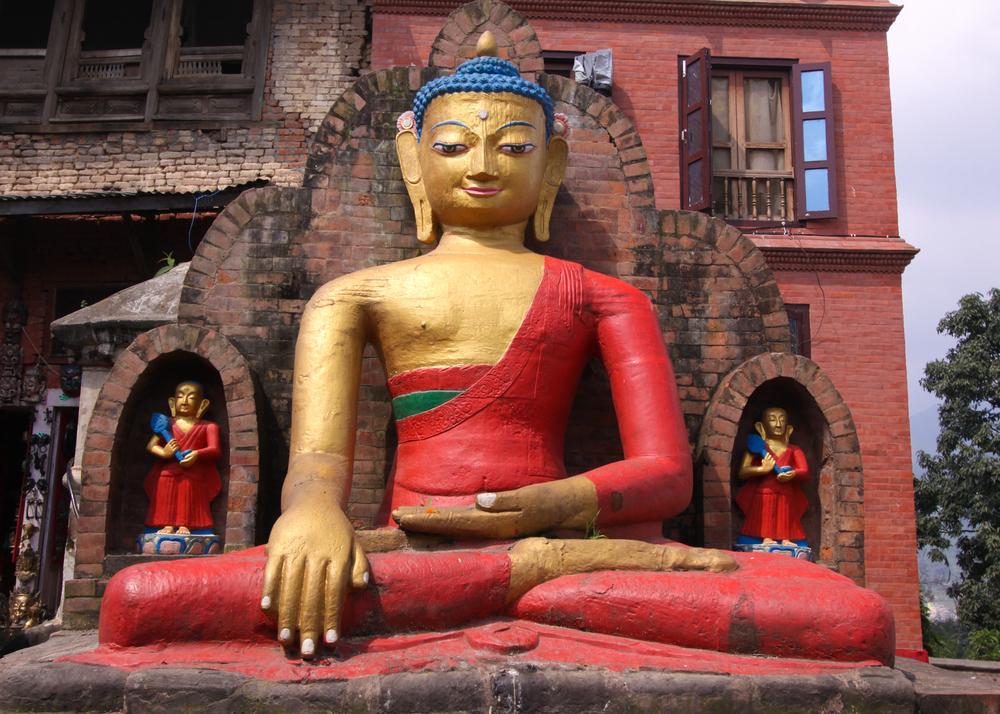 Buddha Statue at Swayambunath Temple, Kathmandu