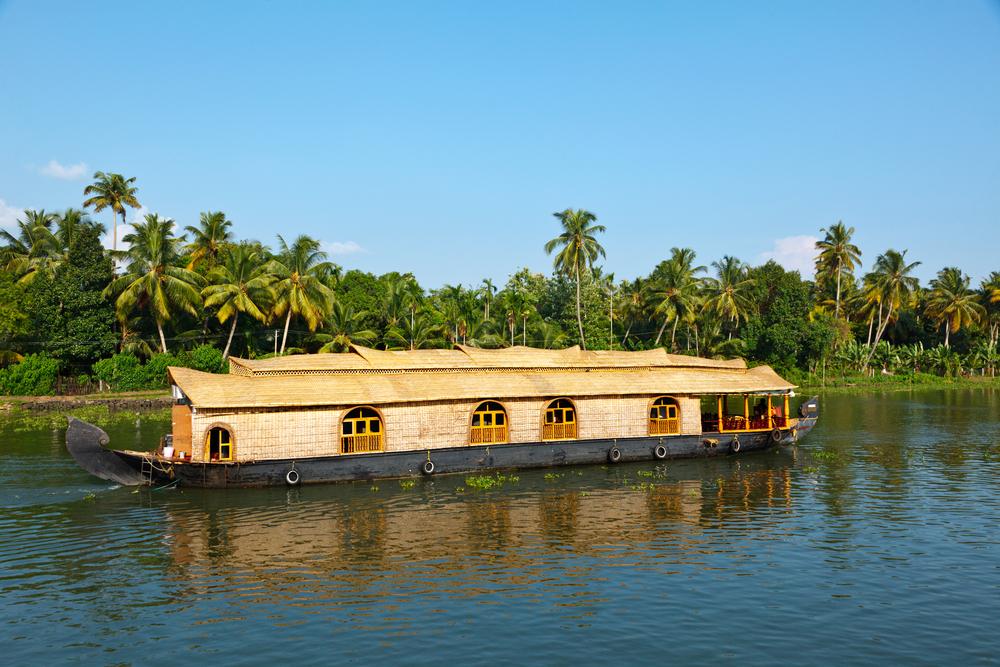 Houseboat On Kerala Backwaters Kerala India