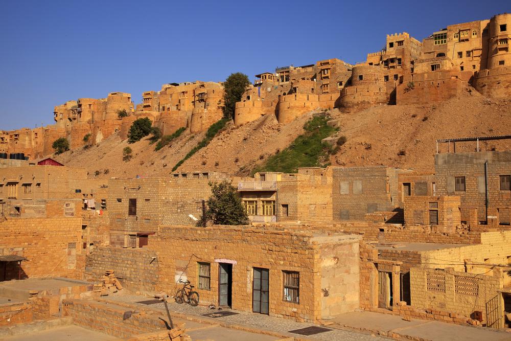 Jaisalmer The Golden City Stands On A Ridge Of Yellowish Sandstone Location Jaisalmer Rajasthan