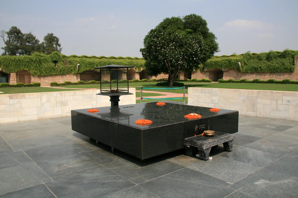 Raj Ghat Mahatma Ghandia Crematorium Site Delhi India