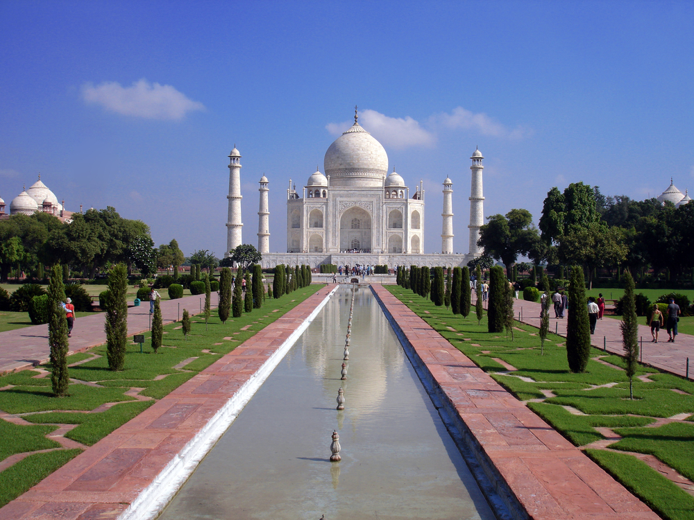 Taj Mahal One Of The Most Famous Landmarks In Asia Agra India