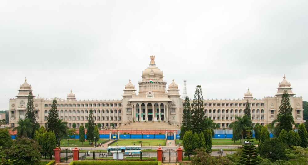 The Karnataka State Legislature Building Vidhana Soudha In Bangalore India