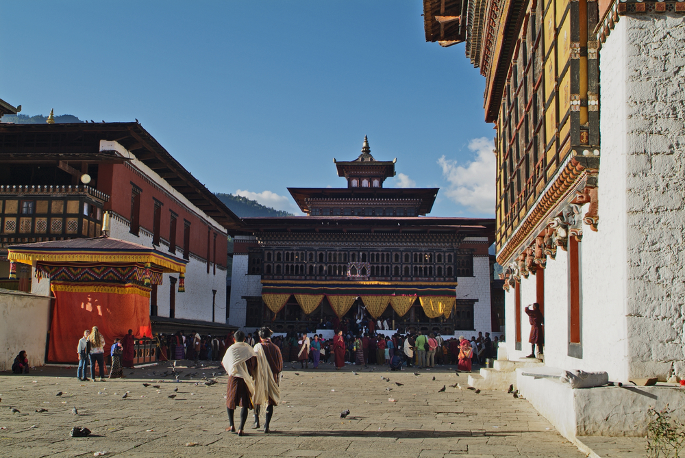 Thimpu Bhutan September Unidentified People And Mo