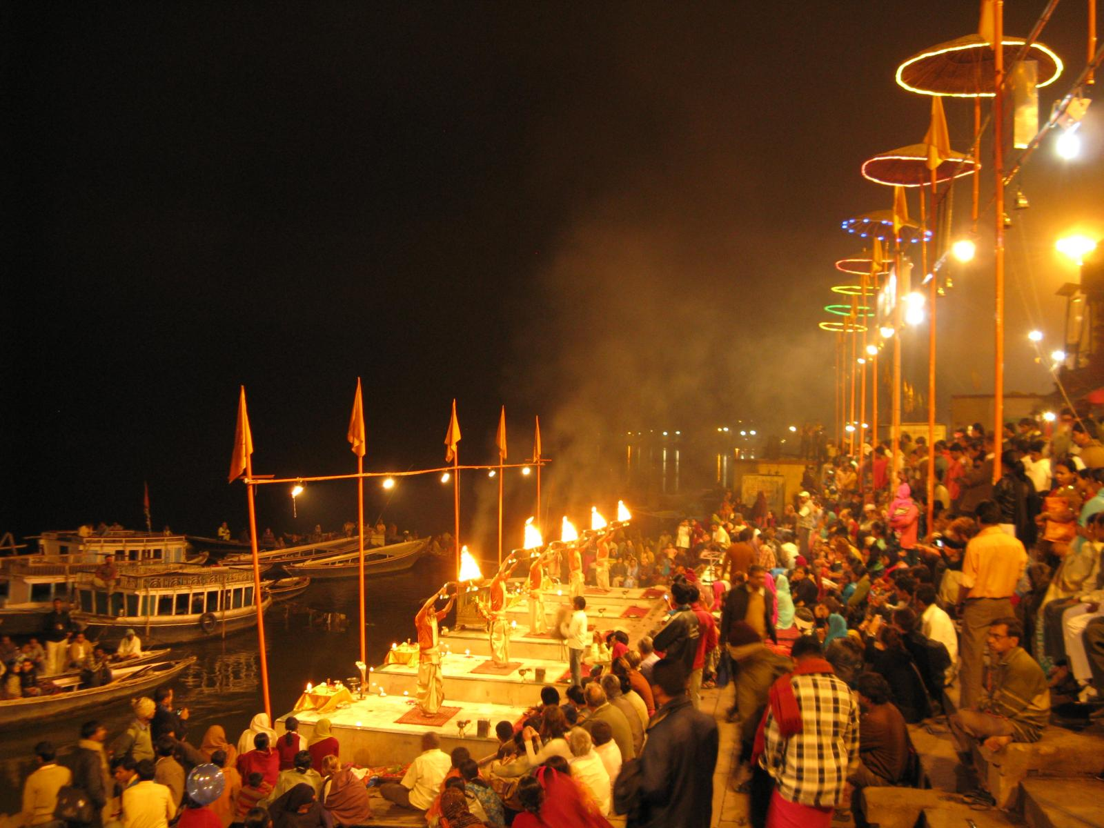Evening Aarti Ceremony on the River Ganges