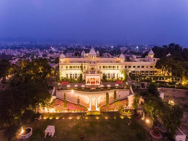 The Lalit Laxmi Vilas Palace In The Evening