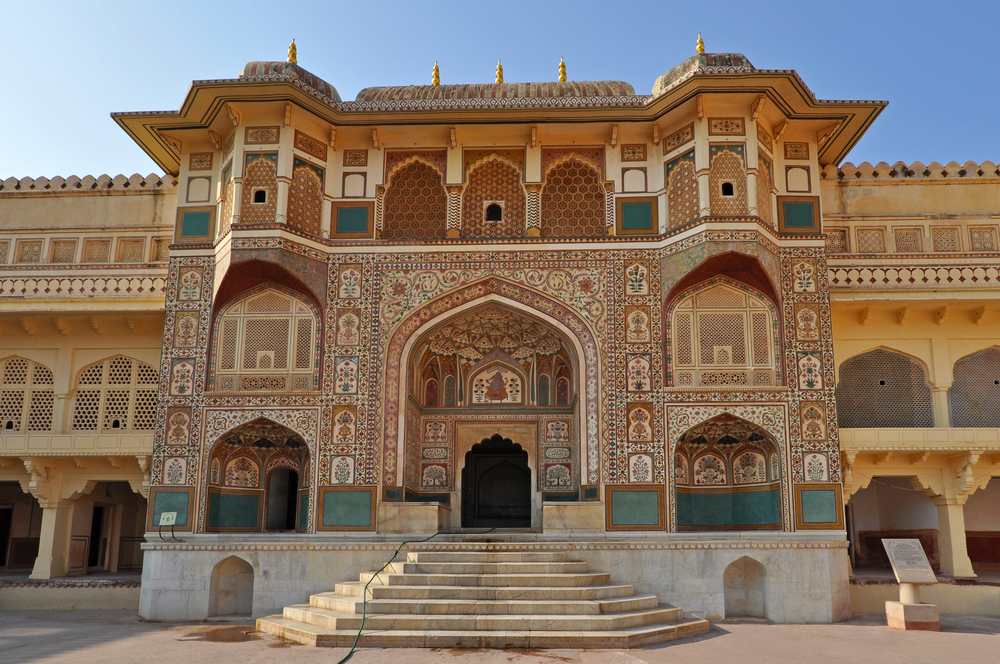 City Palace In Jaipur During The Sunny Day India