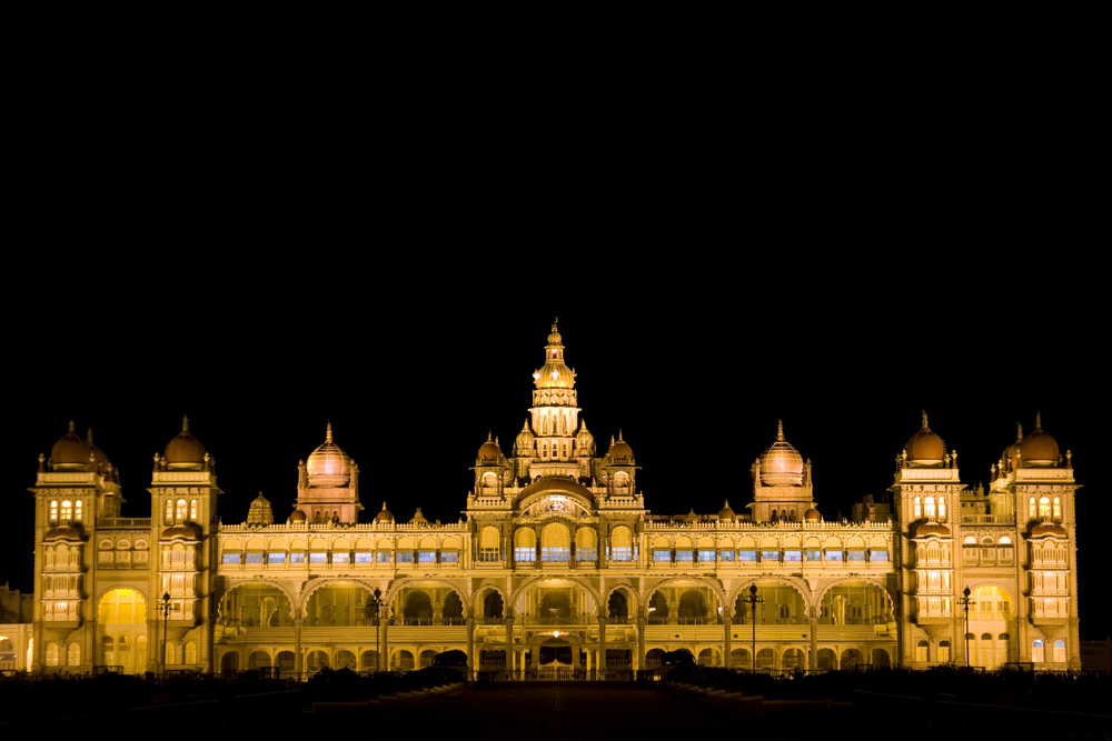 Mysore Palace Lit in the night