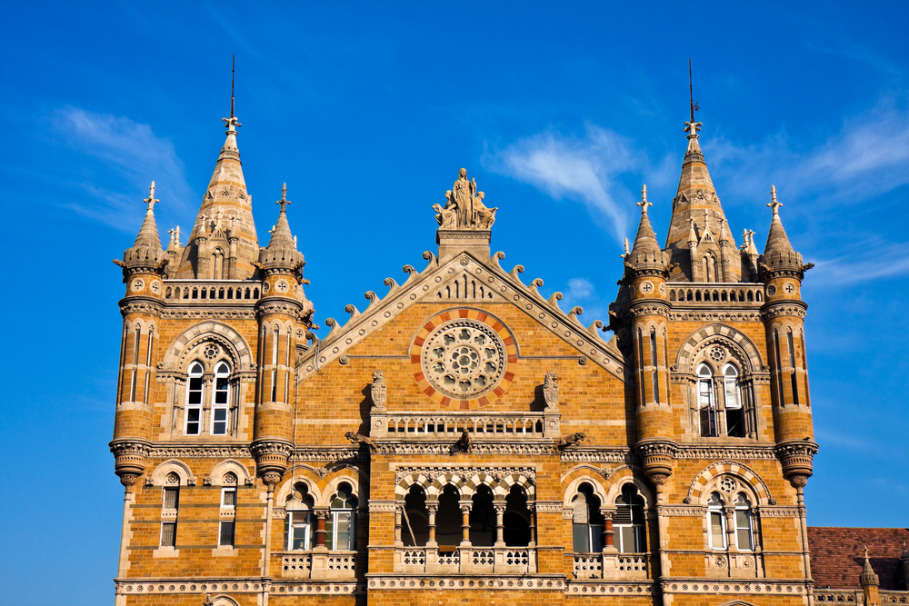 Famous Victoria Terminus Train Station In Mumbai I