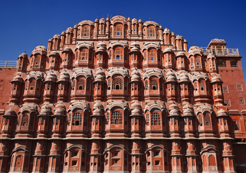 India Rajasthan Jaipur Palace Of Winds Hawa Mahal