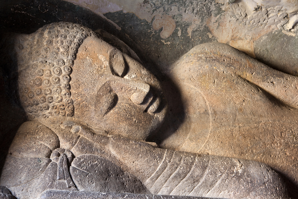 Reclining Buddha at Ajanta Caves, Aurangabad