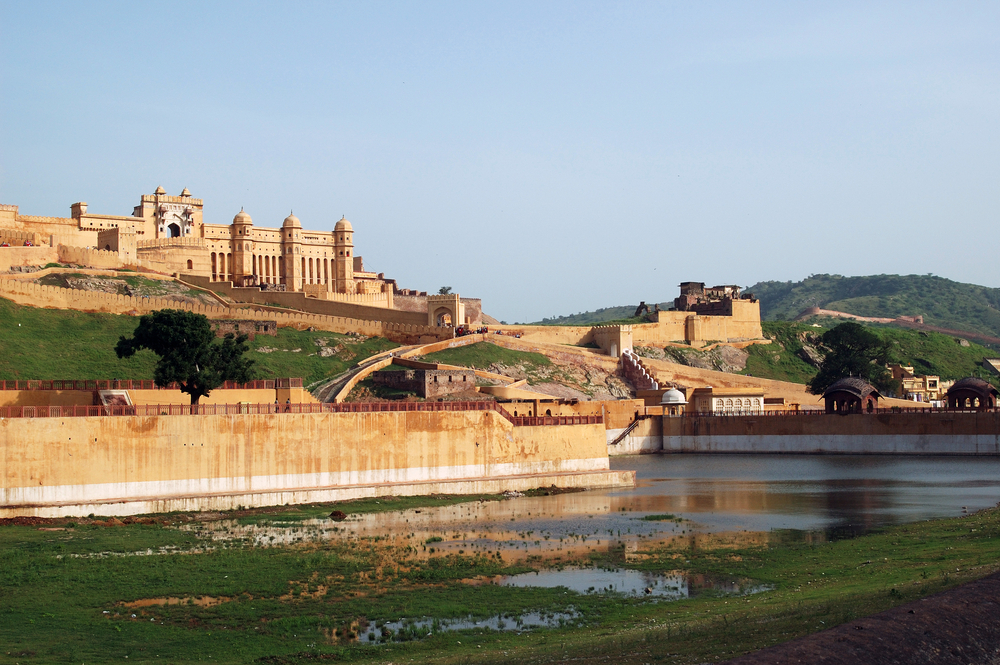View Of The Amber Fort In India